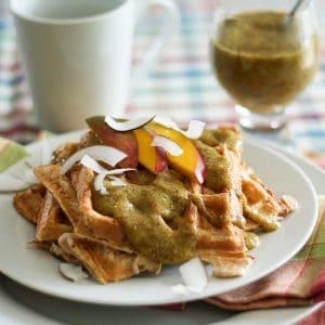 Waffles With a Tropical Twist