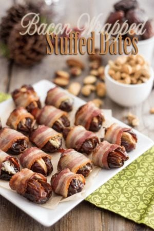 These bacon wrapped stuffed dates are so heavenly good they may sweep you off your feet, yet they are so easy to make you hardly even need this recipe...