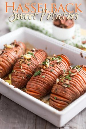 Whether you are looking to wow your guests or treat yourself to a stunning baked potato, learn the simple trick to easily make Hasselback Sweet Potatoes!