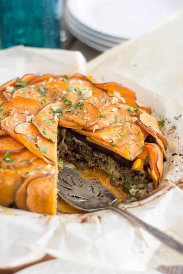 Sweet Potato Ground Beef Pie | by Sonia! The Healthy Foodie