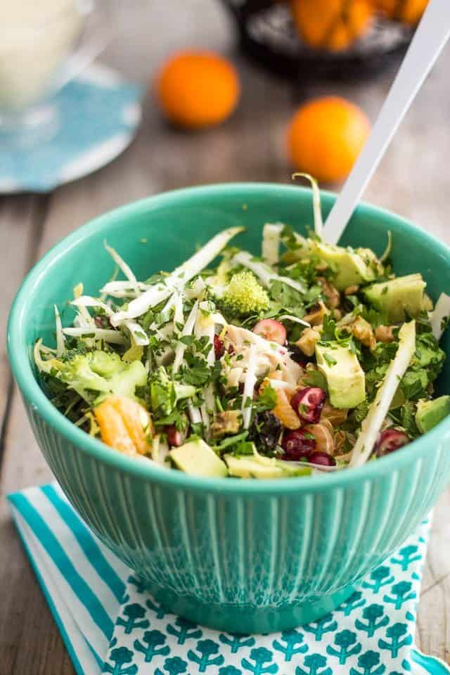 Turkey Broccoli and Clementine Salad | by Sonia! The Healthy Foodie