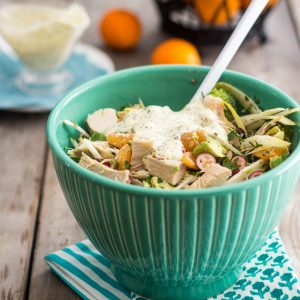 Easy Leftover Turkey Salad with Creamy Orange Poppy Dressing