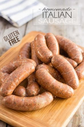 These Gluten Free Homemade Italian Sausages have all of the flavor, but none of the fillers! Try them once, you'll never go back!