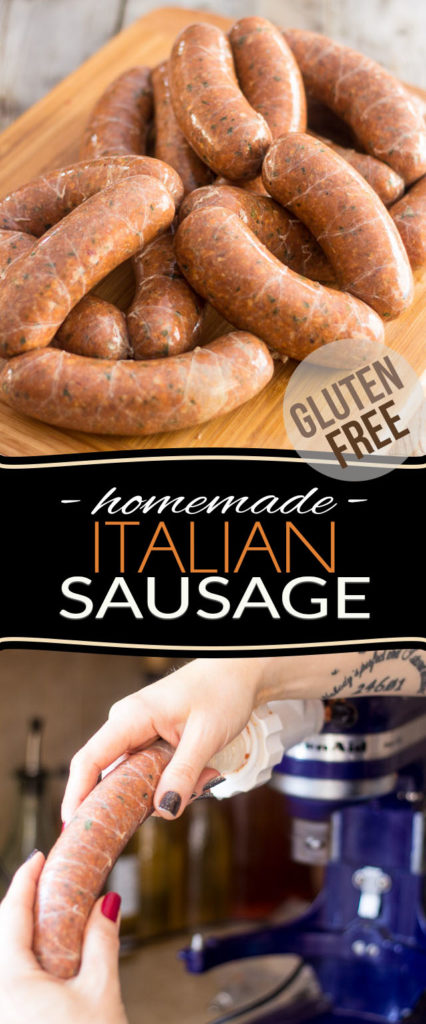 These Gluten Free Homemade Italian Sausages have all of the flavor, but none of the fillers! Try them once, you'll never go back - making your own all natural, healthy sausage at home isn't as complicated as you may think and will definitely earn you some well deserved bragging rights!