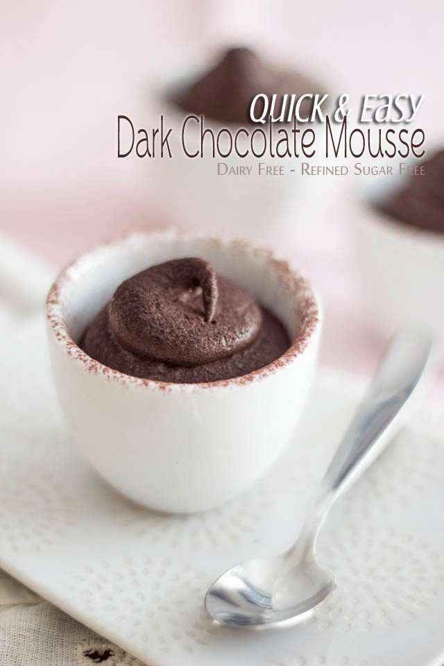 Quick Chocolate Mousse | by Sonia! The Healthy Foodie