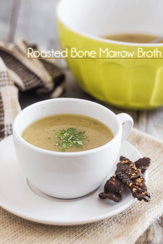 Roasted Bone Marrow Broth | by Sonia! The Healthy Foodie