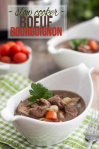 Slow Cooker Boeuf Bourguignon |by Sonia! The Healthy Foodie