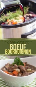 Coming home to a comfortingly delicious and healthy Slow Cooker Boeuf Bourguignon after a hard day's work has never been so easy!