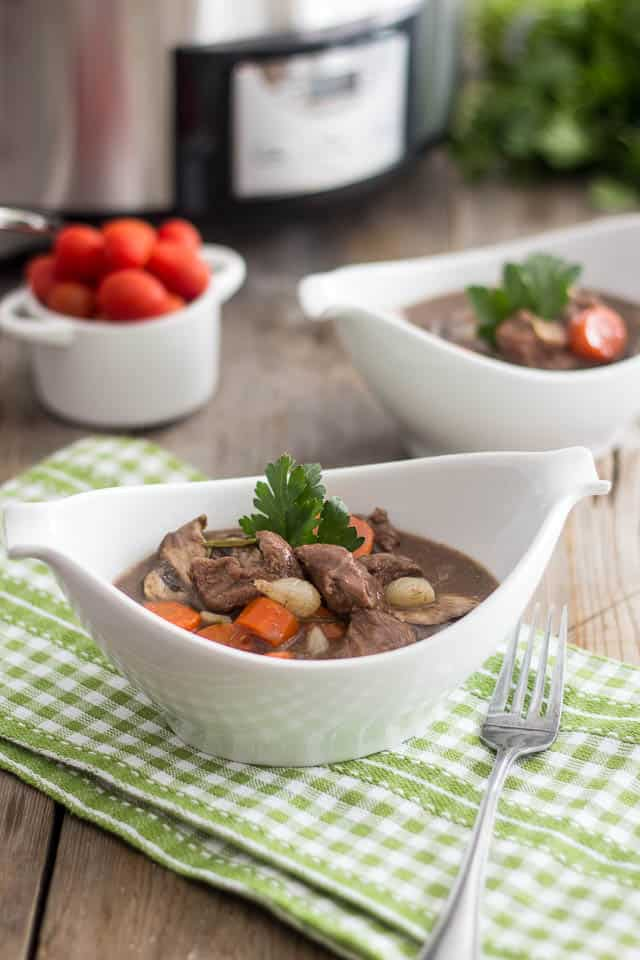Slow Cooker Boeuf Bourguignon | by Sonia! The Healthy Foodie