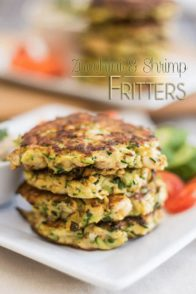 Paleo Zucchini & Shrimp Fritters | by Sonia! The Healthy Foodie