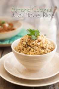 Almond Coconut Cauliflower Rice | www.thehealthyfoodie.com