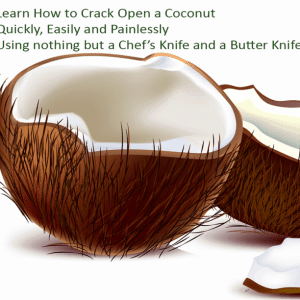 Easily Crack Open a Coconut