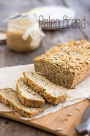 Incredibly tasty, dense and moist, this paleo loaf of bread reminds me of a heavy pound cake in a savory form. It'll definitely have you come back for more!