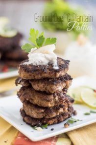 Plaintain and Ground Beef Patties | www.thehealthyfoodie.com