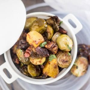 Oven Roasted Brussels Sprouts and Acorn Squash