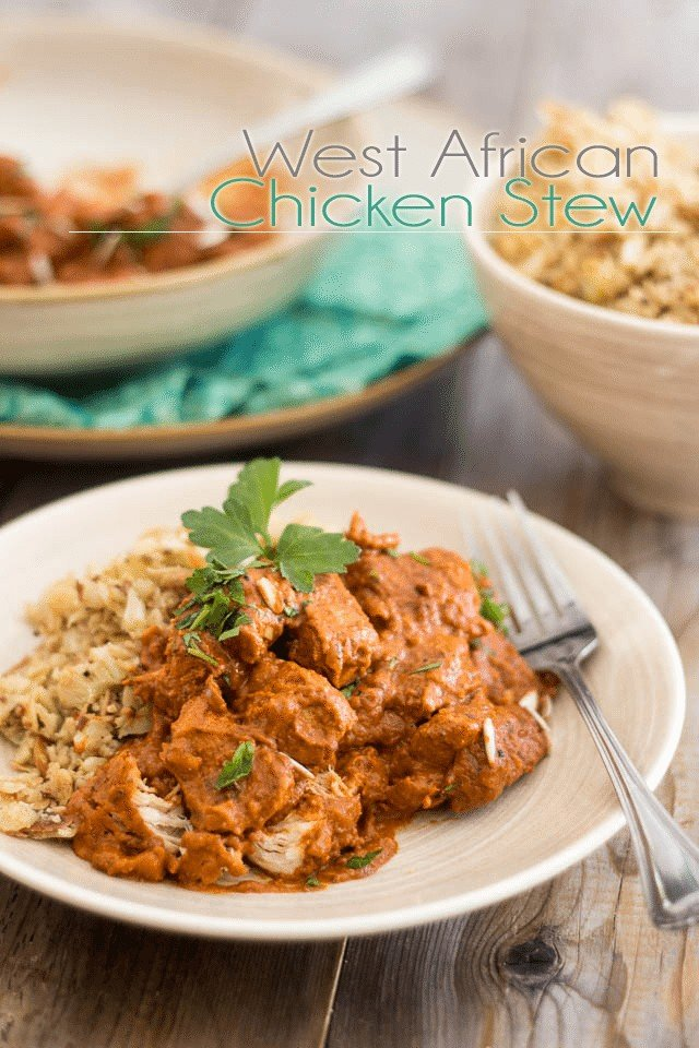 West African Chicken Stew | www.thehealthyfoodie.com