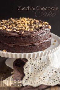 Paleo Zucchini Chocolate Cake | www.thehealthyfoodie.com