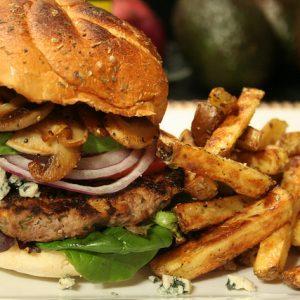 Healthy Hamburger and Fries