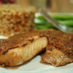 Orange Ginger Tilapia Fillet with Almond Bulgur