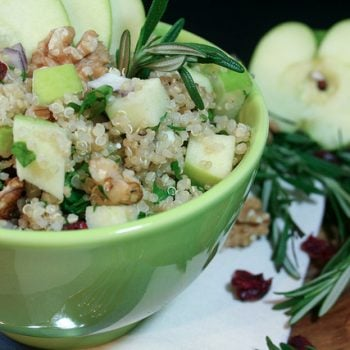 Lent Kick Off – Warm Apple and Feta Quinoa Salad