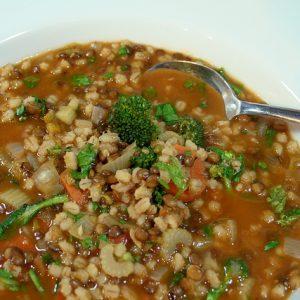 Barley and Lentil Soup