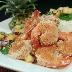 Coconut Crusted Shrimp and Spicy Pineapple Salsa