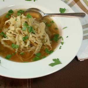 Cabbage (and red lentil) Soup