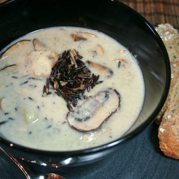 Creamy Mushroom and Wild Rice Soup