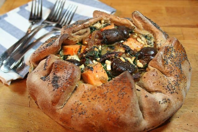 Rustic Sweet Potato Chestnuts Galette • The Healthy Foodie
