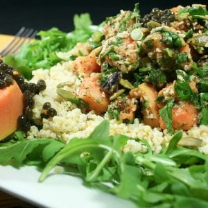 Refreshing Papaya Millet Salad