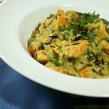 Squash Coconut and Wild Rice Curry
