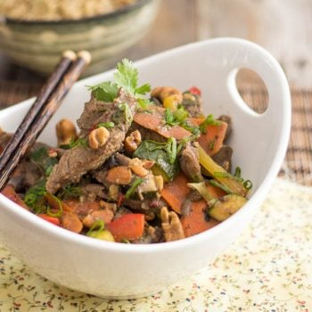 Ginger Cashew Beef Stir-Fry