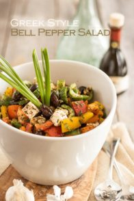 Greek Style Bell Pepper Salad | thehealthyfoodie.com