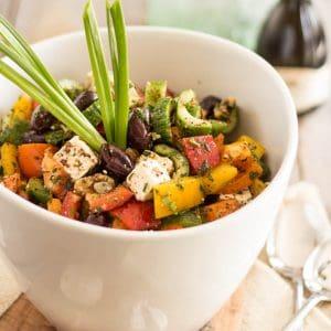 Greek Style Bell Pepper Salad