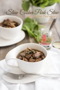 Slow Cooker Pork Stew with Oyster Mushrooms | www.thehealthyfoodie.com