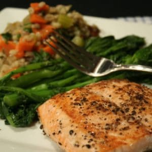 Salmon and Barley Risotto