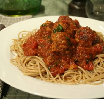 Spaghetti Chicken Meatballs