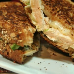 Chicken, Avocado and Oyster Mushrooms Grilled Cheese Sandwich
