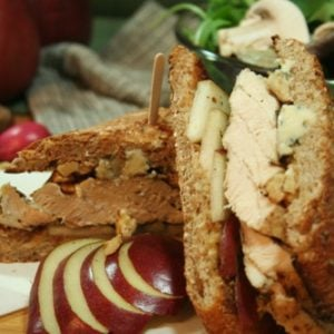 Chicken, Pear, Walnut and Blue Cheese Sandwich