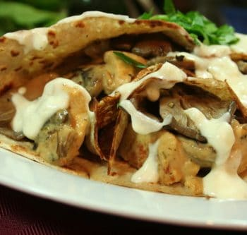Chicken and Mushroom Stuffed Crêpes