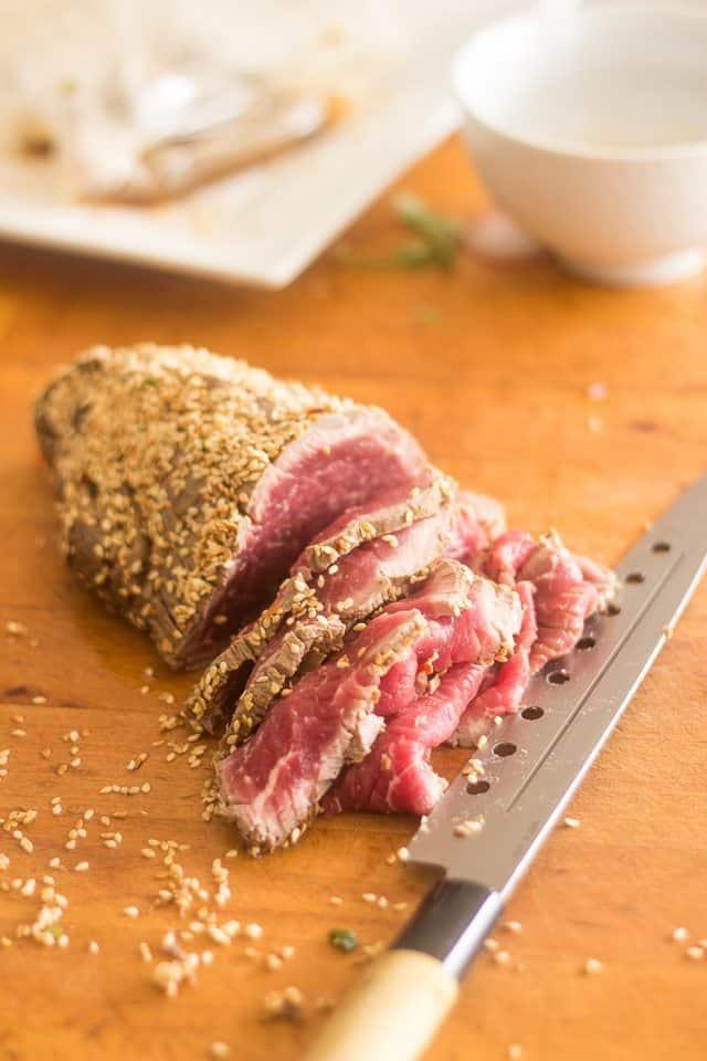 Beef Tataki | thehealthyfoodie.com