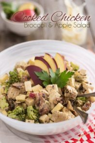 Cooked Chicken Salad | thehealthyfoodie.com