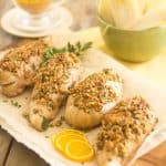Blue Cheese Stuffed Walnut Crusted Chicken Breasts | thehealthyfoodie.com