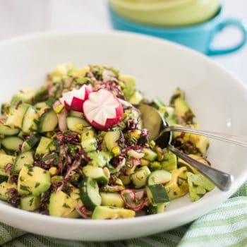 Avocado Cucumber and Pistachio Salad