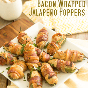 Bacon Wrapped Jalapeno Poppers | thehealthyfoodie.com
