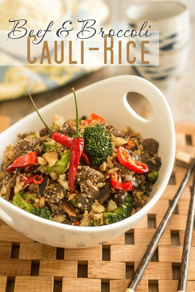 Beef and Broccoli Cauli-Rice | thehealthyfoodie.com