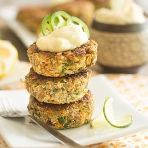 Loaded Cauliflower Fritters | thehealthyfoodie.com