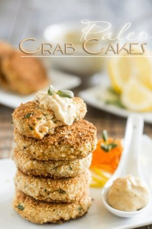 Quickly and easily turn plain and boring canned fish into something fun and delicious to eat with these Paleo Crab Cakes.