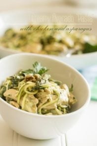 Creamy Avocado Pasta | thehealthyfoodie.com