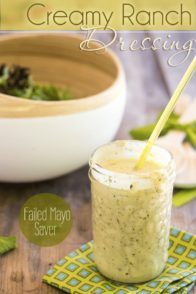 Creamy Ranch Dressing | thehealthyfoodie.com